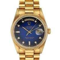 Rolex Day-Date 36 Żółte złoto 36mm Niebieski