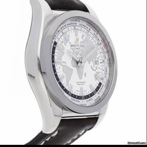 Breitling Galactic Unitime Steel 44mm White No numerals