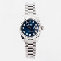 Rolex Or blanc Remontage automatique Bleu 26mm occasion Lady-Datejust