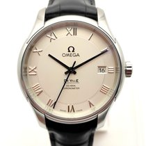 Omega De Ville Co-Axial Steel White No numerals