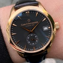 Carl F. Bucherer Rose gold Automatic Black No numerals 41mm pre-owned Manero