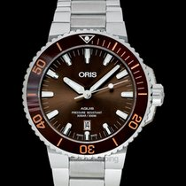 Oris Aquis Date Steel 43.5mm Brown United States of America, California, Burlingame