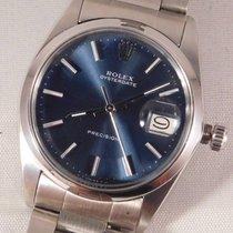 Rolex Oyster Precision Acier 34mm Bleu