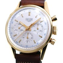 TAG Heuer Yellow gold Manual winding Silver 35mm pre-owned Carrera