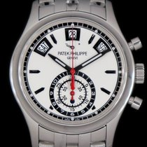 Patek Philippe Annual Calendar Chronograph Steel 40.5mm Silver No numerals United States of America, New York, New York