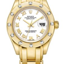 Rolex Lady-Datejust Pearlmaster usados Blanco Broche plegable