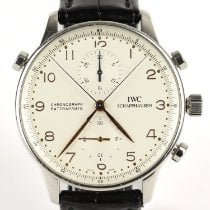 IWC IW371201 Steel 2002 Portuguese Chronograph pre-owned