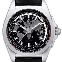 Breitling Galactic Unitime Steel 44mm Black No numerals