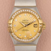 Omega Constellation Ladies Or/Acier 27mm Champagne Sans chiffres