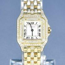 Cartier Panthère tweedehands 22mm Wit Geelgoud