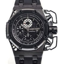 Audemars Piguet Royal Oak Offshore Chronograph folosit 42mm Negru Cronograf Data Cauciuc