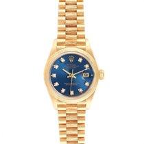 Rolex Lady-Datejust Gelbgold 26mm Blau