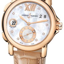 Ulysse Nardin Dual Time pre-owned Mother of pearl Fold clasp