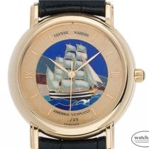 Ulysse Nardin San Marco Cloisonné Yellow gold 37mm Champagne Roman numerals