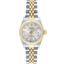 Rolex Lady-Datejust occasion 26mm Argent Date Or/Acier