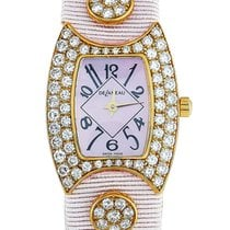 DeLaneau First Lady Yellow gold 23mm Mother of pearl Arabic numerals