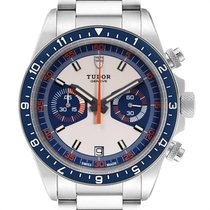 Tudor Heritage Chrono Blue Steel 42mm Silver