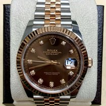 Rolex Datejust pre-owned 41mm Brown Gold/Steel