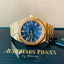 Audemars Piguet Royal Oak Selfwinding Geelgoud 37mm Blauw Geen cijfers Nederland, Kerkrade
