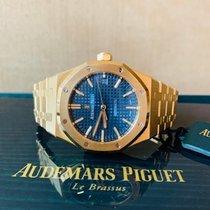 Audemars Piguet Or jaune Remontage automatique Bleu Sans chiffres 37mm occasion Royal Oak Selfwinding