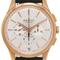 Zenith Captain Chronograph Roségoud 42mm Zilver Geen cijfers