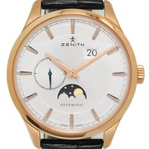 Zenith Captain Moonphase Or rose 40mm Argent