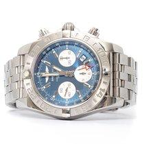 Breitling Chronomat 44 GMT Stahl 44mm Blau Keine Ziffern