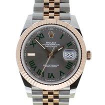 Rolex Datejust II Goud/Staal 41mm Grijs Romeins
