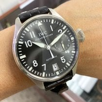 IWC White gold Automatic Grey Arabic numerals 46mm pre-owned Big Pilot