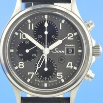 Sinn 358 pre-owned 42mm Grey Chronograph Date Leather