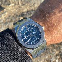 Audemars Piguet Royal Oak Dual Time Acier 39mm Bleu Sans chiffres France, Bastia