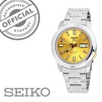 Seiko 5 Acier 37mm Or Sans chiffres