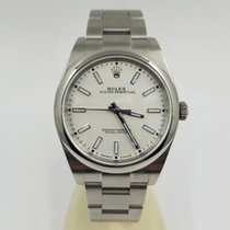 Rolex Steel Automatic Silver No numerals 39mm pre-owned Oyster Perpetual 39