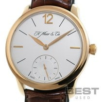 H.Moser & Cie. Yellow gold Manual winding Silver 40mm pre-owned Endeavour