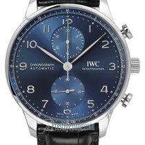 IWC Portuguese Chronograph Steel 41mm Blue