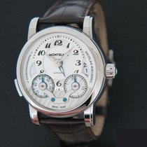 Montblanc Nicolas Rieussec Steel 42mm Silver