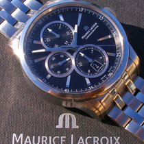 Maurice Lacroix Pontos Chronographe pre-owned 43mm Black Chronograph Date Steel