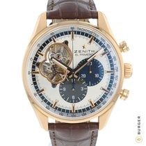 Zenith Rose gold Automatic Silver 42mm pre-owned El Primero Chronograph