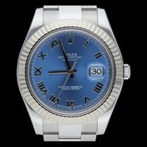 Rolex Datejust II Or/Acier 41mm Bleu Romain