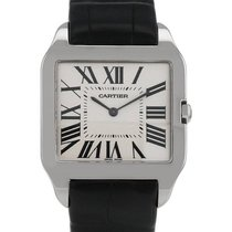 Cartier 2651 White gold 2000 Santos Dumont 34mm pre-owned