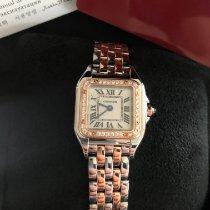 Cartier neu Quarz Edelsteinbesatz Originalzustand/Originalteile 22mm Gold/Stahl