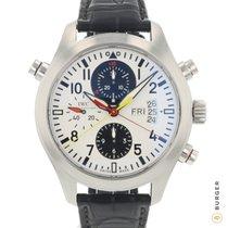 IWC Pilot Double Chronograph Acél 44mm Fehér Arab
