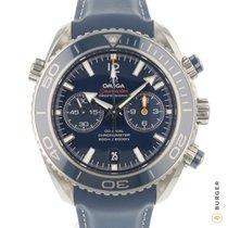 Omega Titanium Automatisch Blauw Arabisch 45.5mm tweedehands Seamaster Planet Ocean Chronograph