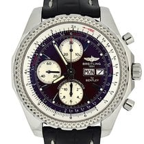 Breitling Bentley GT Сталь 45mm Бордовый Без цифр
