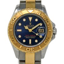 Rolex Steel Automatic Blue 29mm pre-owned Yacht-Master