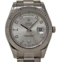 Rolex Day-Date II Hvidguld 41mm Sølv