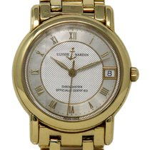 Ulysse Nardin Yellow gold Automatic Silver 33mm pre-owned San Marco
