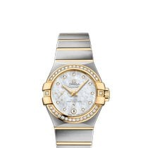 Omega Constellation Petite Seconde Goud/Staal 27mm Wit