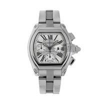 Cartier Roadster Steel 43mm Silver Roman numerals