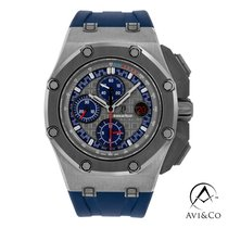 Audemars Piguet Royal Oak Offshore Chronograph Platinum 44mm Grey No numerals